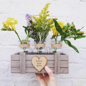 Little things by Lucy personalised flower crate