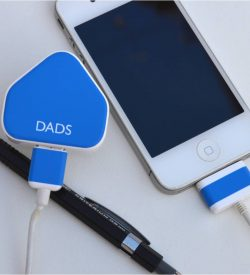 Dad's iPhone charger sticker
