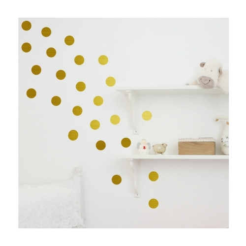gold circle wall stickers set of 24 got2jot. Black Bedroom Furniture Sets. Home Design Ideas