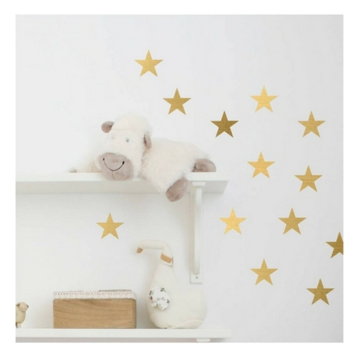 gold stars wall stickers - set of 24 | got2jot