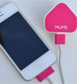 Mum's iPhone charger sticker