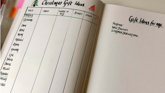 Christmas Gift Guide Layout.How To Use Your Bullet Journal To Plan Christmas Got2jot