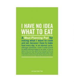 Meal planner pad from Knock Knock