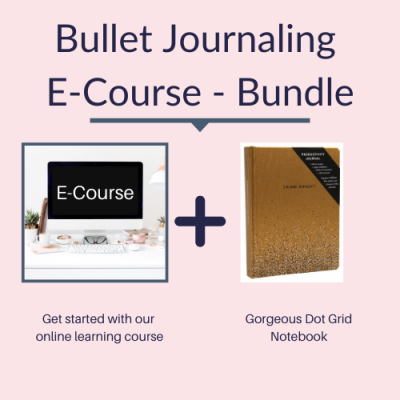 Bullet Journaling E-course and notebook bundle