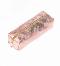 sparkly blush pink pencil case