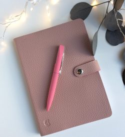Pink vegan notebook letterbox giftt set