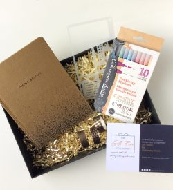 Bullet Journaling Starter gift box gold