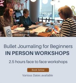 Bullet journaling for beginners in person workshops